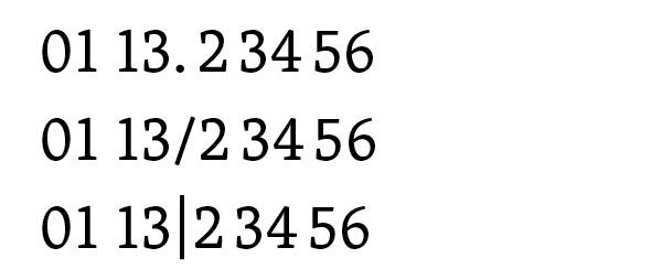 3 Ziffern Und Zahlengliederung