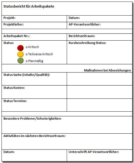 2.2 Statusberichte und Ampel-Methode